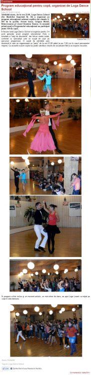 Program educational pentru copii, organizat de Loga Dance School (portalsm.ro)
