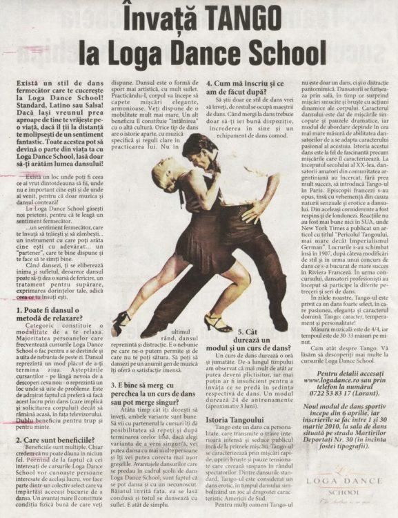 Invata TANGO la Loga Dance School (Informatia Zilei)