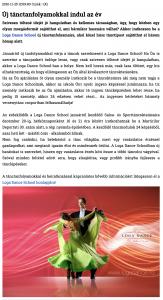 Uj tanctanfolyamokkal indul az ev (szatmar.ro)