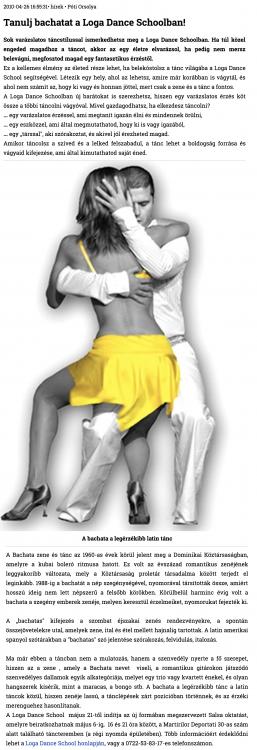 Tanulj Bachatat a Loga Dance Schoolban! (szatmar.ro)