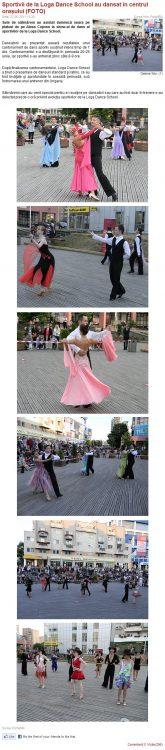 Sportivii de la Loga Dance School au dansat in centrul orasului (portalsm.ro)