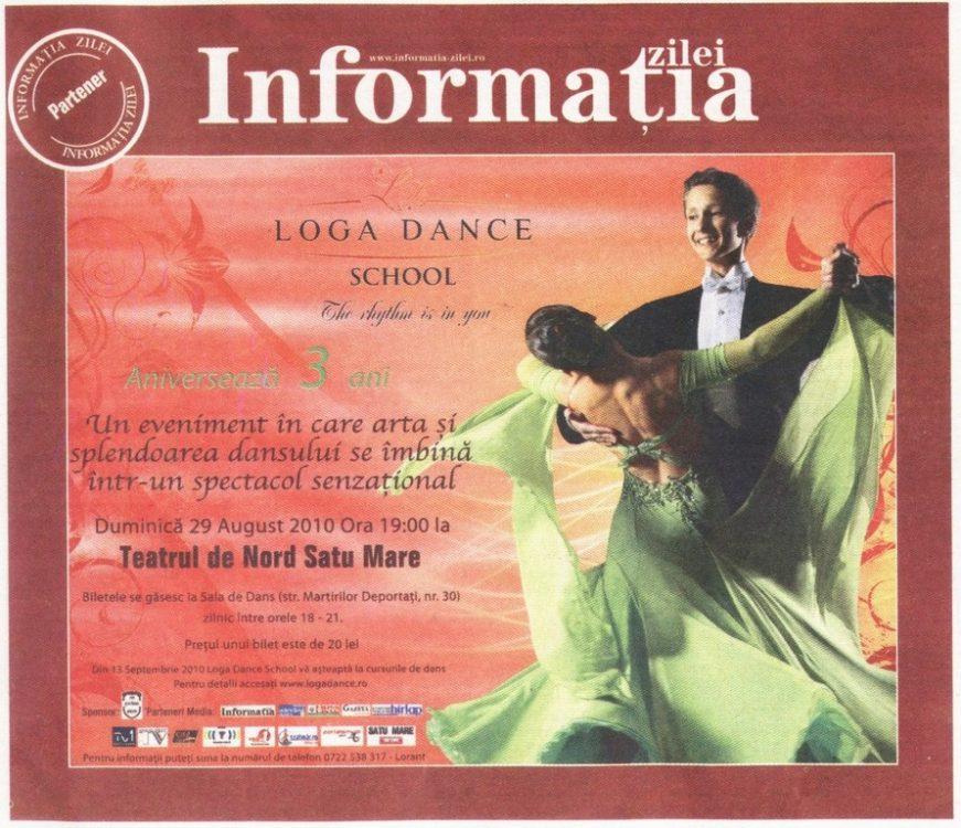 Loga Dance School Aniverseaza 3 ani (Informatia Zilei)