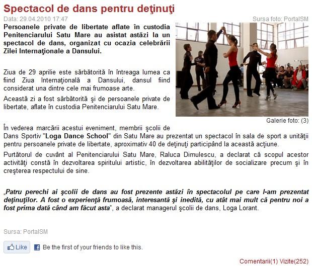 Spectacol de dans pentru detinuti (portalsm.ro)
