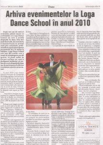 Arhiva evenimentelor la Loga Dance School in anul 2010 (Informatia Zilei)
