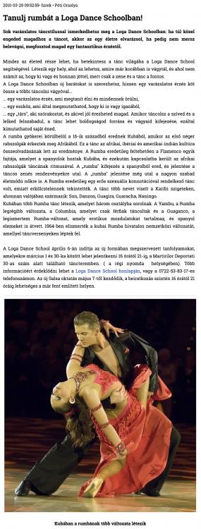 Tanulj Rumbat a Loga Dance Schoolban! (szatmar.ro)