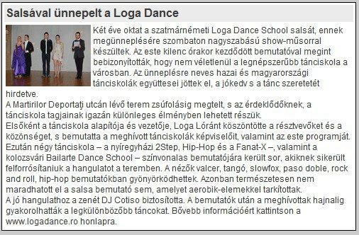 Salsaval unnepelt a Loga Dance School (szatmar.ro)