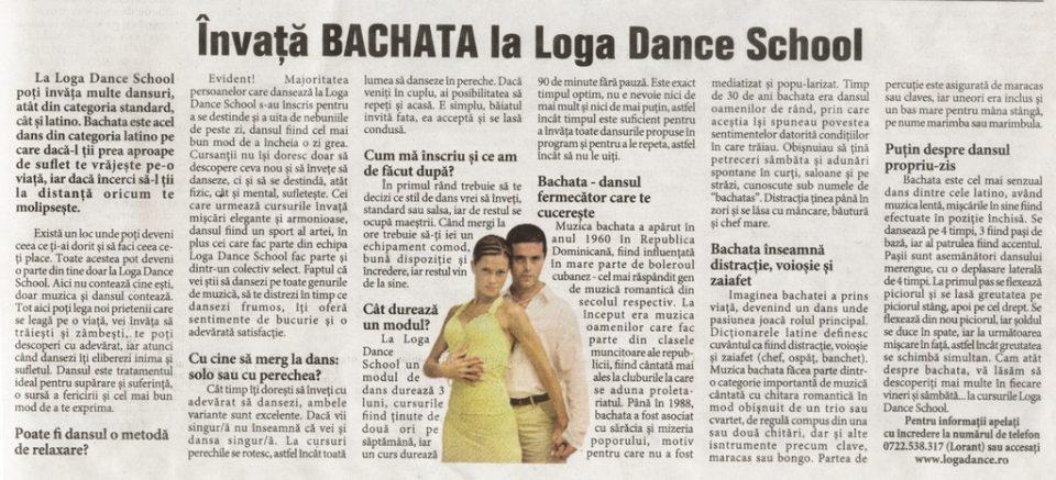 Invata Bachata la Loga Dance School (Informatia Zilei)