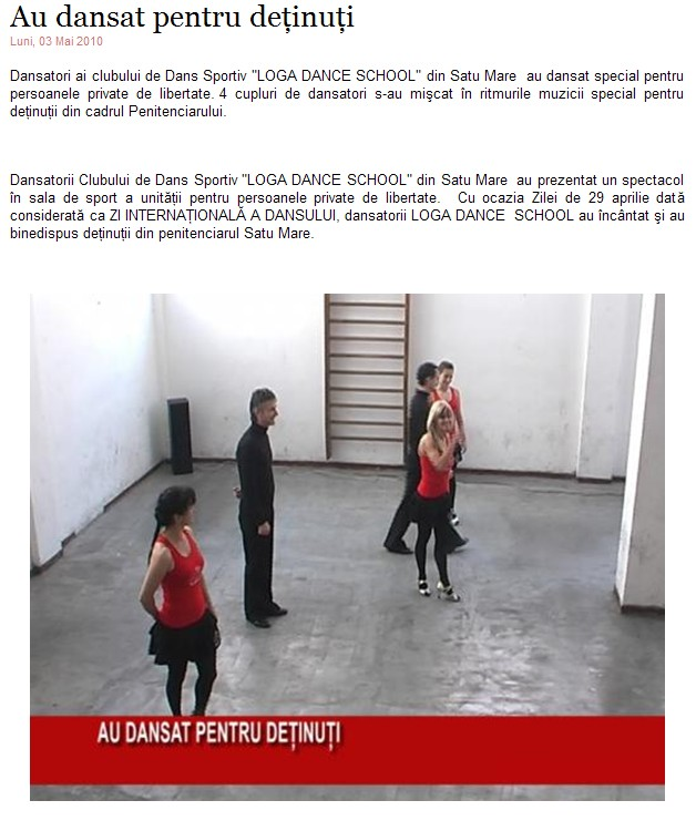 Au dansat pentru detinuti (tv1satumare.ro)