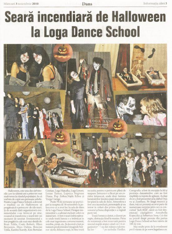 Seara incendiara de Halloween la Loga Dance School (Informatia Zilei)