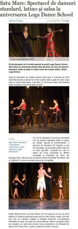 Spectacol de dansuri standard, latino si salsa la aniversarea Loga Dance School (adevarul.ro)