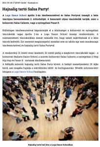 Hajnalig tarto Salsa Party! (szatmar.ro)