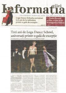 Trei ani de Loga Dance School, aniversati printr-o gala de exceptie (Informatia Zilei)
