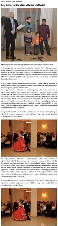 Feje tetejere allt a vilag a Spivac csaladdal (szatmar.ro)