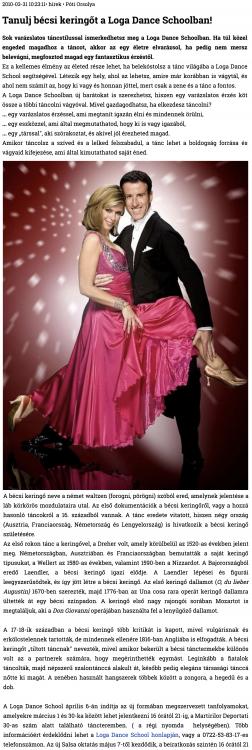 Tanulj becsi keringot a Loga Dance Schoolban!(szatmar.ro)