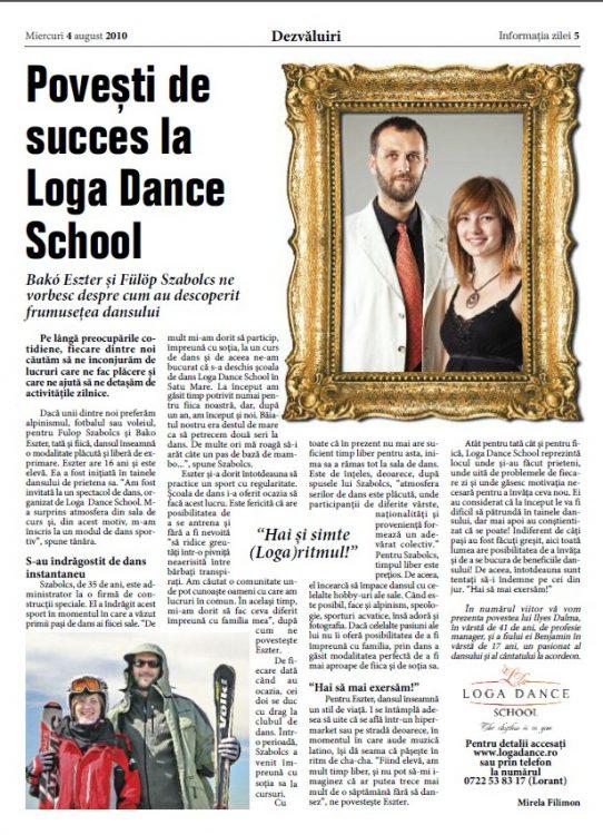 Povesti de succes la Loga Dance School - Bako Eszter si Fulop Szabolcs (Informatia Zilei)