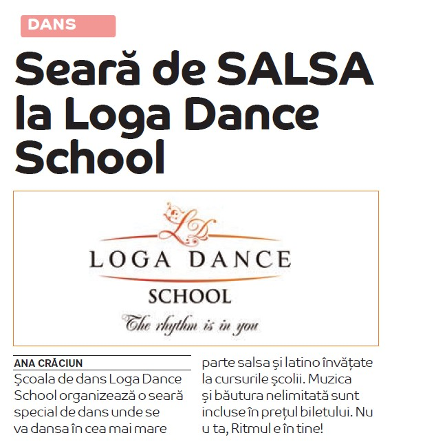 Seara de Salsa la Loga Dance School (Zile si Nopti)