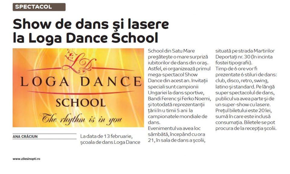 Show de dans si lasere la Loga Dance School (Zilei si Nopti)