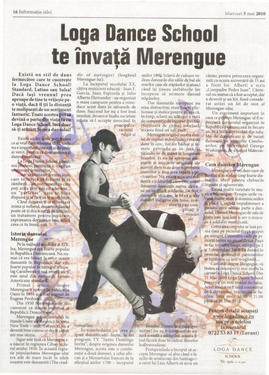 Loga Dance School te invata Merengue (Informatia Zilei)
