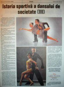 Istoria sportiva a dansului de societate (III) (Informatia Zilei)