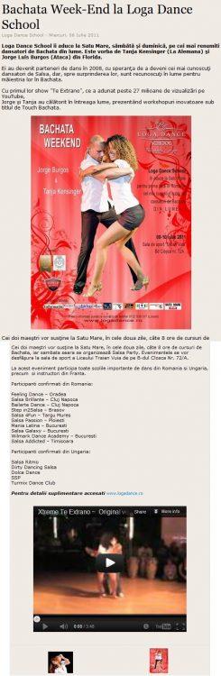 Bachata Weekend la Loga Dance School (satumareonline.ro)