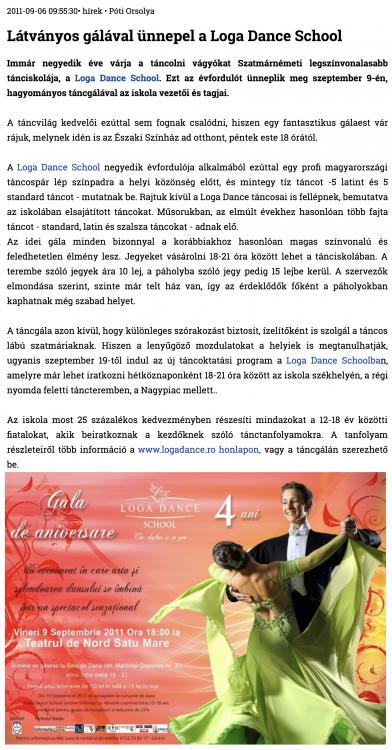 Latvanyos galaval unnepel a Loga Dance School (szatmar.ro)