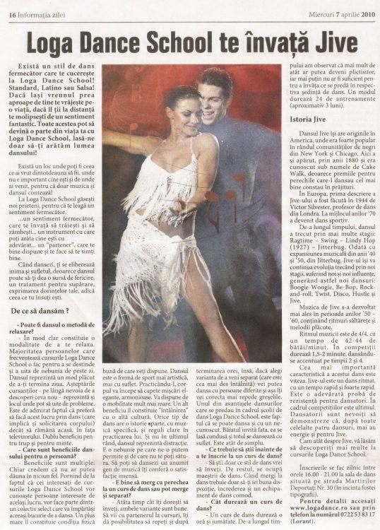 Invata Jive la Loga Dance School (Informatia Zilei)