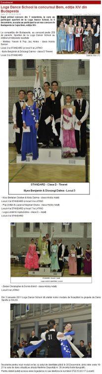 Loga Dance School la concursul BEM, editia XIV din Budapesta (portalsm.ro)