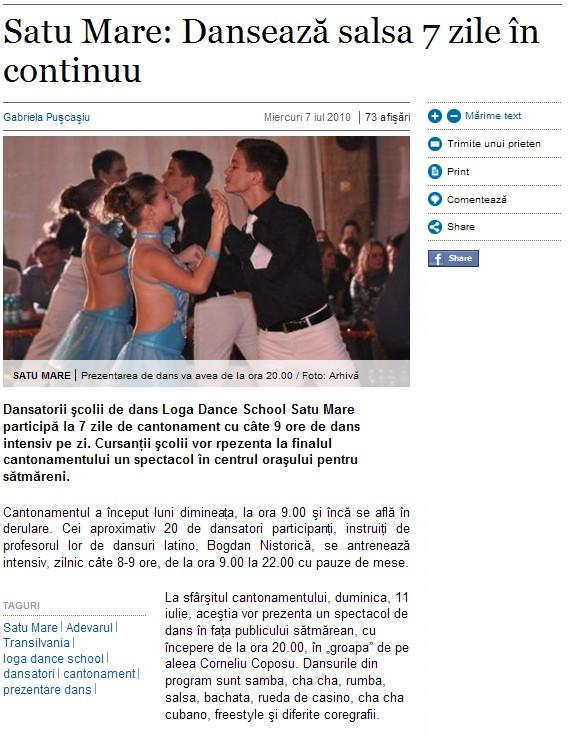 Danseaza salsa 7 zile incontinuu (adevarul.ro)