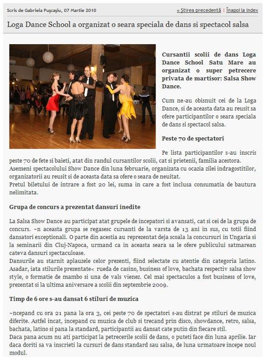 Loga Dance School a organizat o seara speciala de dans si spectacol Salsa (informatia-zilei.ro)