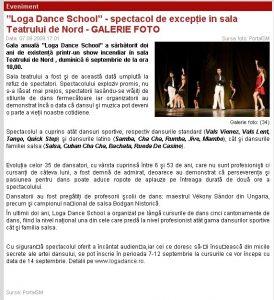 Loga Dance School – spectacol de exceptie in sala Teatrului de Nord (portalsm.ro)