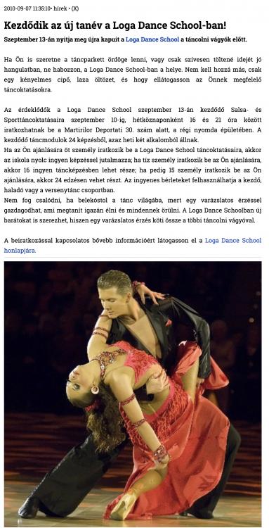 Kezdodik az uj tanev a Loga Dance School-ban! (szatmar.ro)