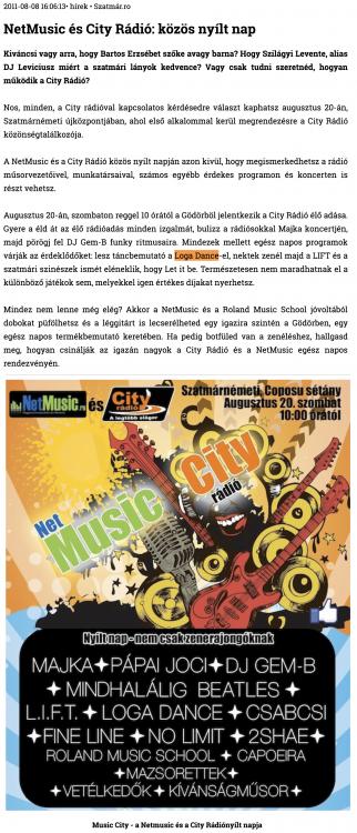 NetMusic es City Radio: kozos nyilt nap (szatmar.ro)
