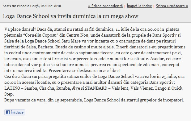 Loga Dance School va invita duminica la un mega show (adevarul.ro)