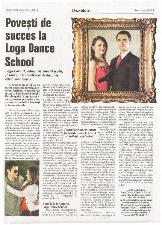 Povesti de succes la Loga Dance School - Loga Lorant, administratorul scolii, si sora lui Hajnalka se destainuie cititorilor nostri (Informatia Zilei)