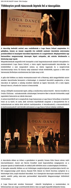 Tobbnyire profi tancosok leptek fel a tancgalan (szatmar.ro)