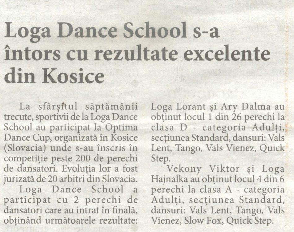 Loga Dance School s-a intors cu rezultate excelente din Kosice (Informatia Zilei)