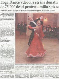 Loga Dance School a strans donatii de 75.000 de lei pentru familia Spivac (Informatia Zilei)