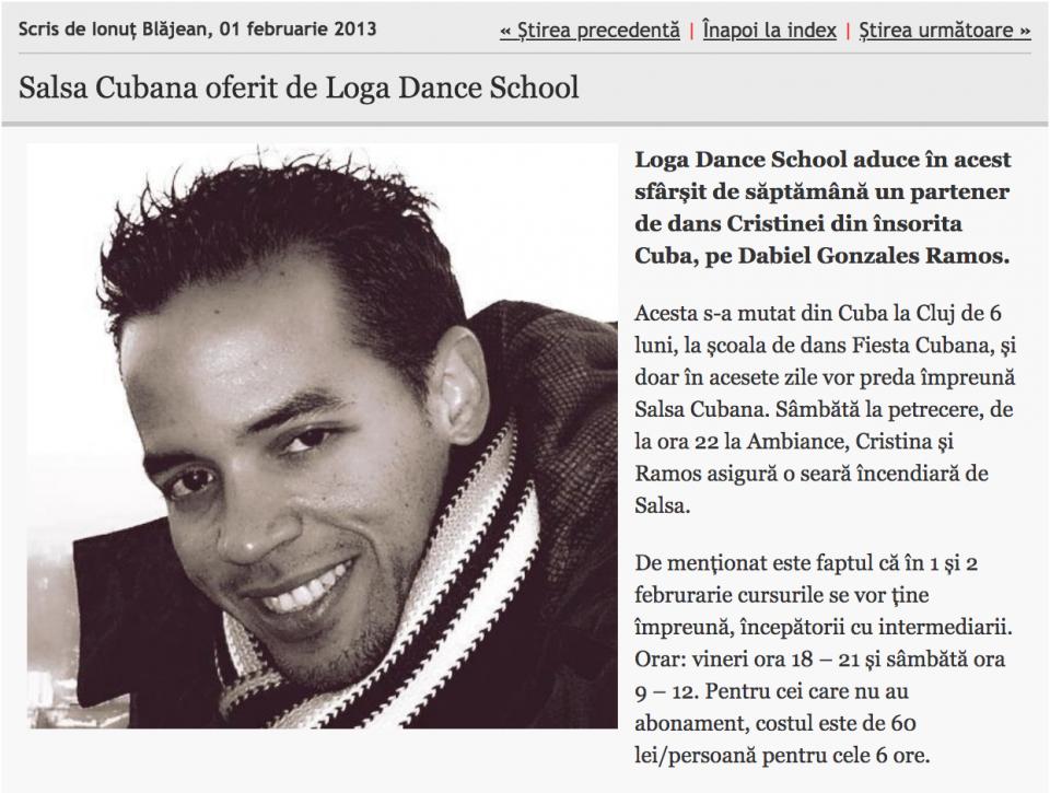 Salsa Cubana oferit de Loga Dance School (informatia-zilei.ro)