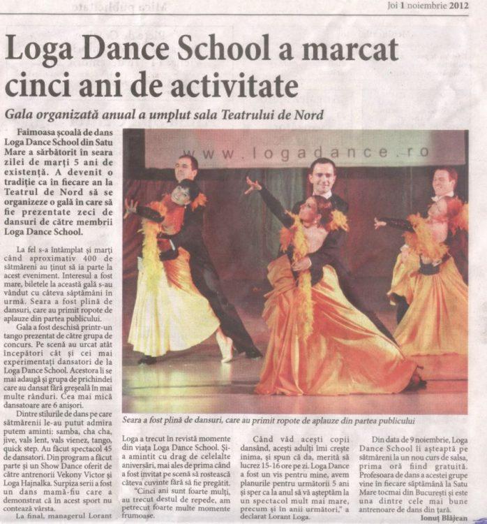 Loga Dance School a marcat cinci ani de activitate (Informatia Zilei)