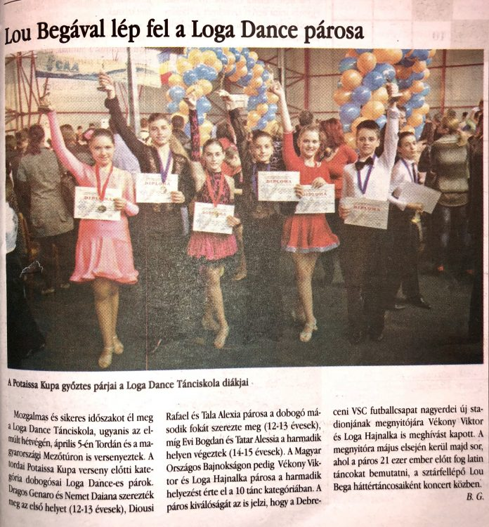 Lou Begaval lep fel a Loga Dance School parosa (Magyar Hirlap)