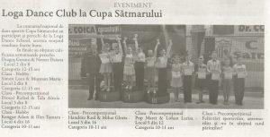 Loga Dance School la Cupa Satmarului (Gazeta de Nord Vest)