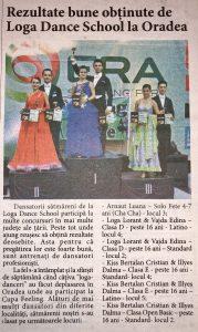 Rezultate bune obtinute de Loga Dance School la Oradea (informatia-zilei.ro)