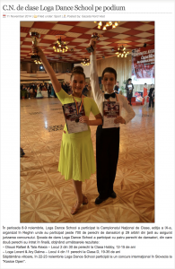 Campionatul National de clase - Loga Dance School pe podium (gazetanord-vest.ro)