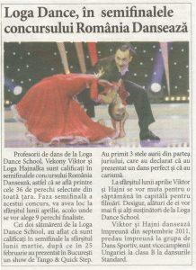 Loga Dance School, in semifinalele concursului Romania Danseaza (Informatia Zilei)