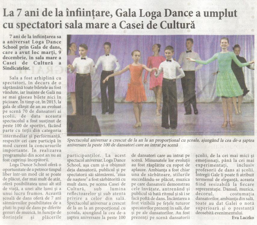 La 7 ani de la infiintare, Gala Loga Dance a umplut cu spectatori sala mare a Casei de Cultura (Informatia Zilei)