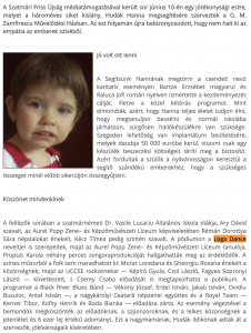 Sikeres akcio Hannacska gyogyulasaert (frissujsag.ro)