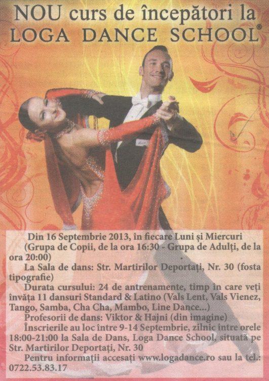 Curs nou de incepatori la Loga Dance School (Informatia Zilei)