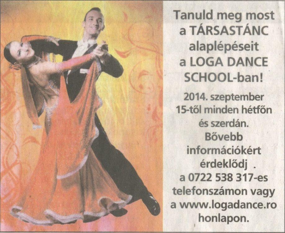 Tanuld meg most a TARSASTANC alaplepeseit a Loga Dance School-ban! (Friss Ujsag)