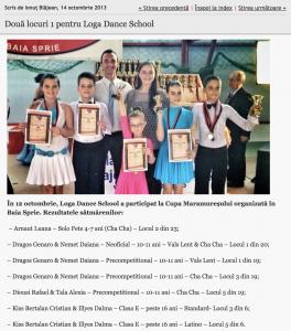 Doua locuri 1 pentru Loga Dance School (informatia-zilei.ro)