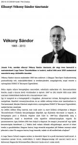 Elhunyt Vekony Sandor tanctanar (szatmar.ro)